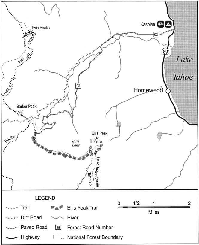 Ellis Peak / Ellis Lake Dirt Biking Map
