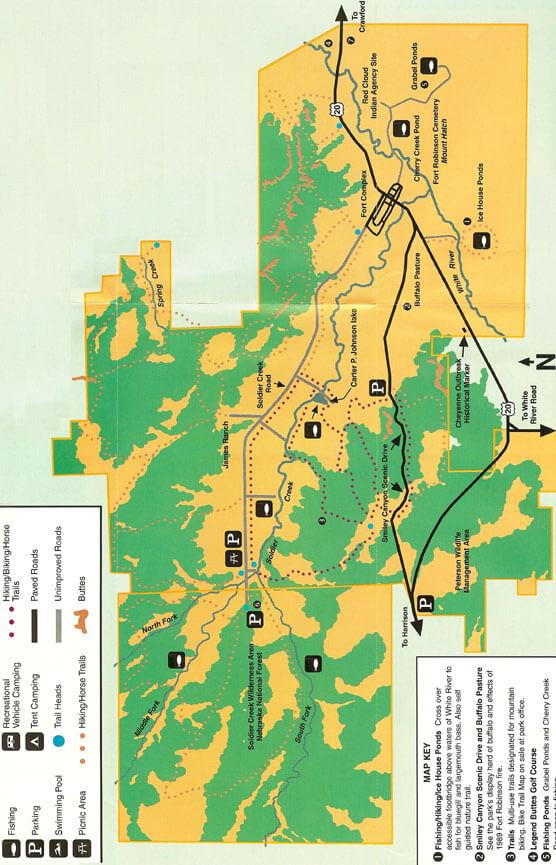 Fort Robinson State Park Mountain Biking Map