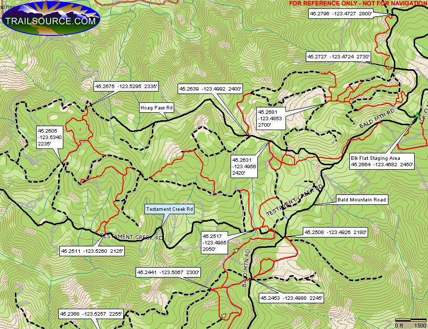 Elk Flat ORV Staging Area Dirt Biking Map