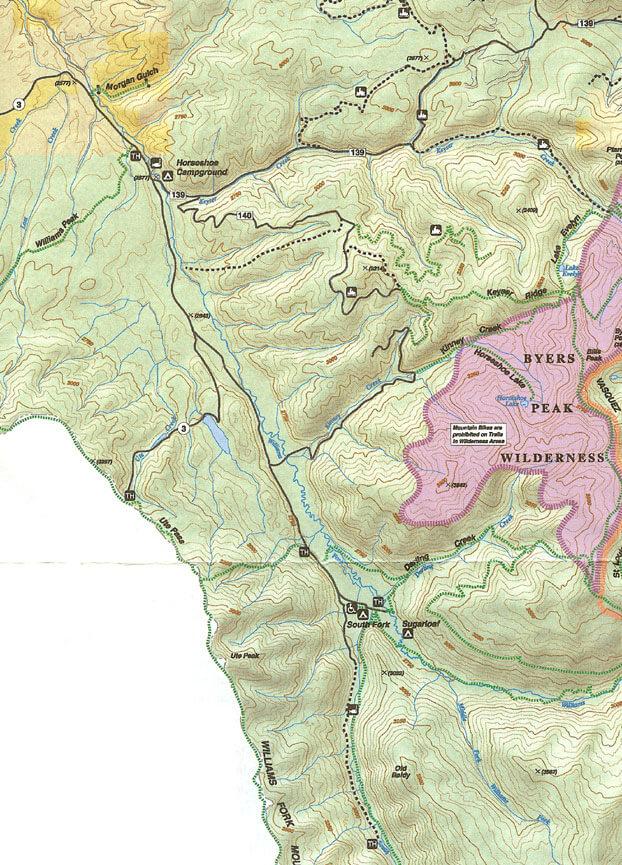 Williams Fork Trail System ATV Trails Map