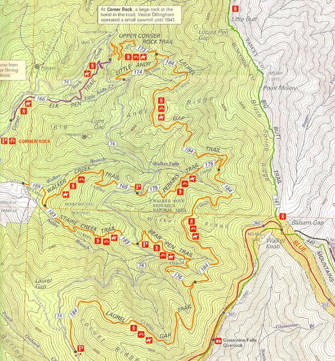 Laurel Gap Trail Horseback Riding Map