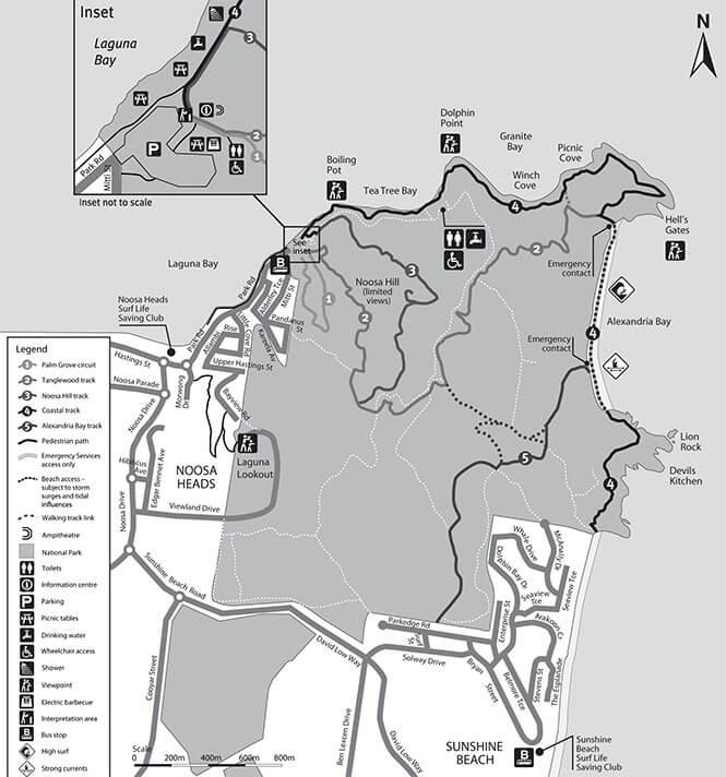 Noosa Hiking Map