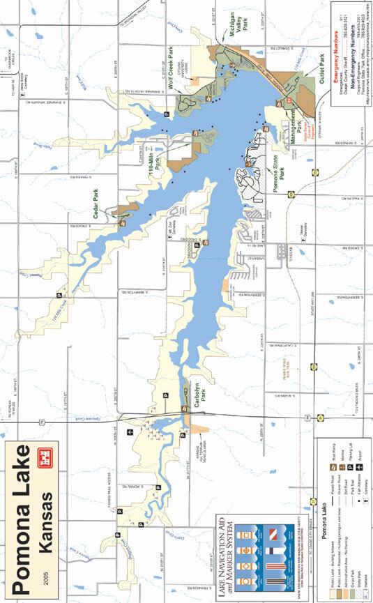 Lake Pomona ATV Trails Map