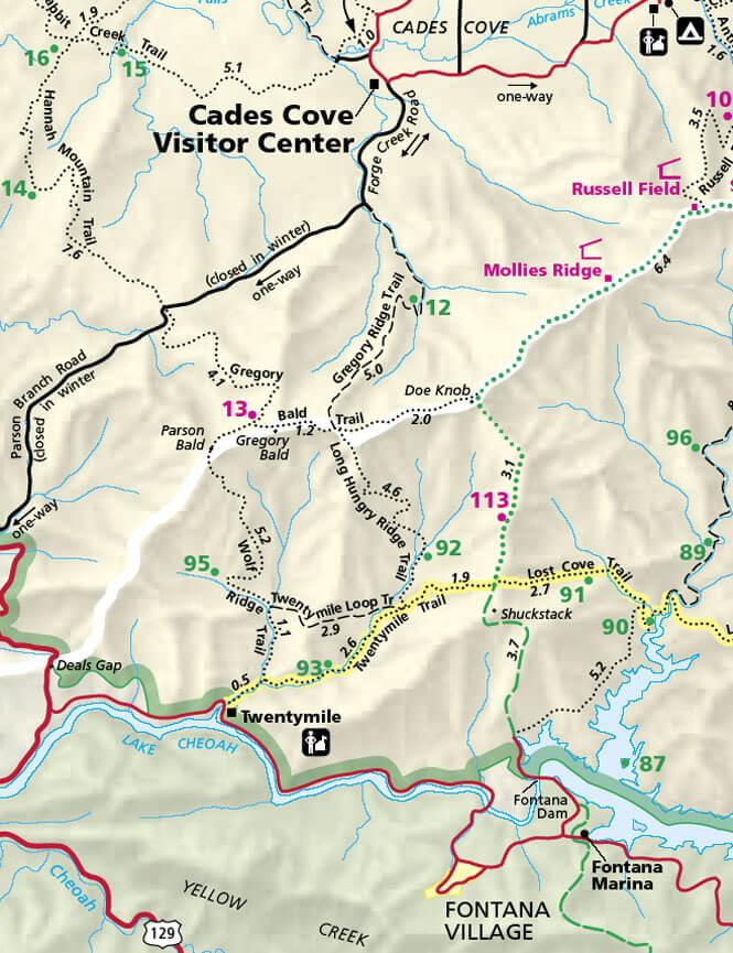 Wolf Ridge Trail Hiking Map