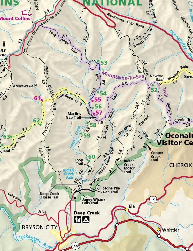 Deep Creek Trail Hiking Map