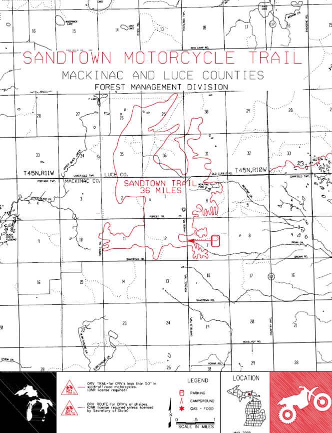 Sandtown Trail ATV Trails Map