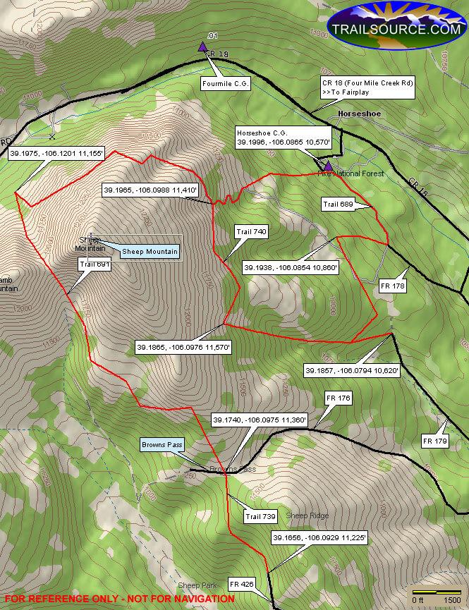 Horseshoe Trail System ATV Trails Map