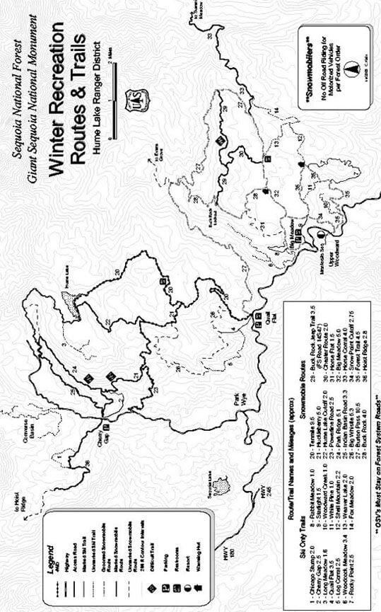 Quail Flat Snowmobiling Map