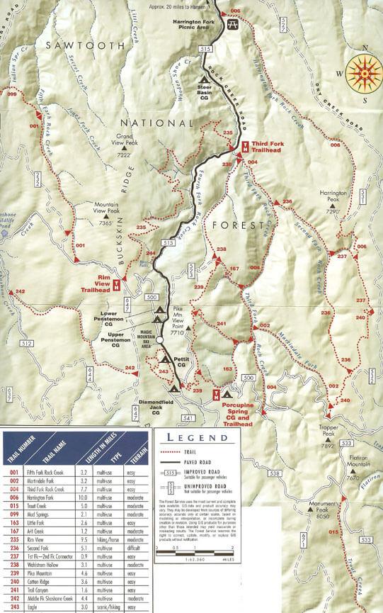 Third Fork / Heart Attack Loop Mountain Biking Map