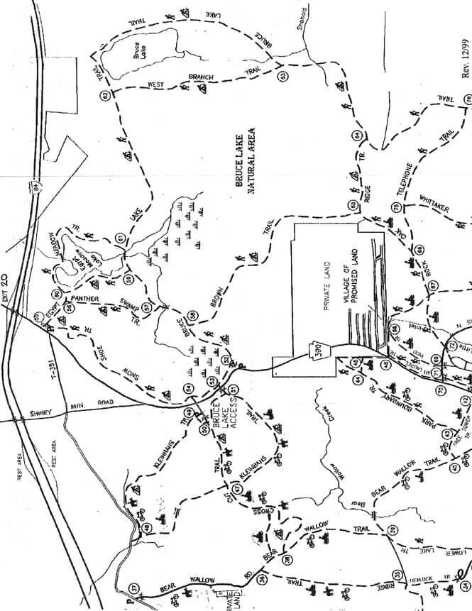 Bruce Lake Horseback Riding Map