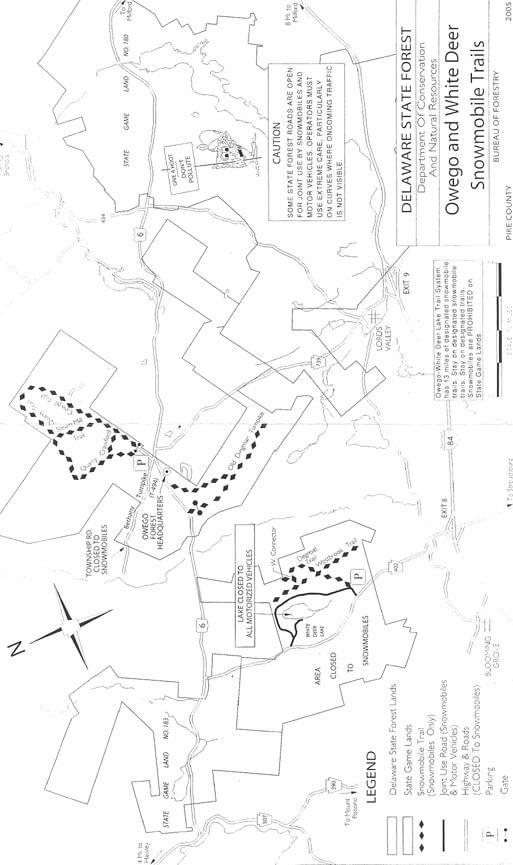 Owego / White Deer  Snowmobiling Map