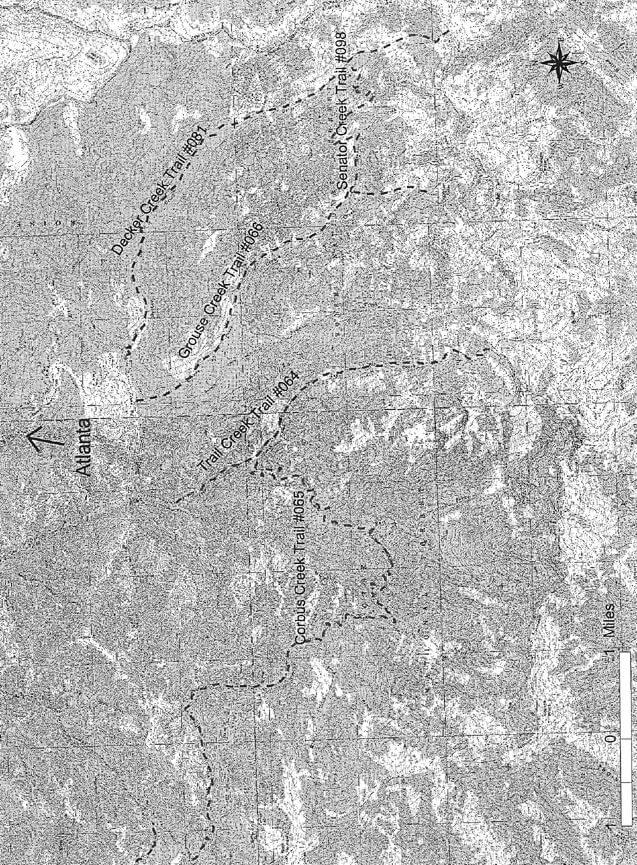 Trail Creek Trail Hiking Map