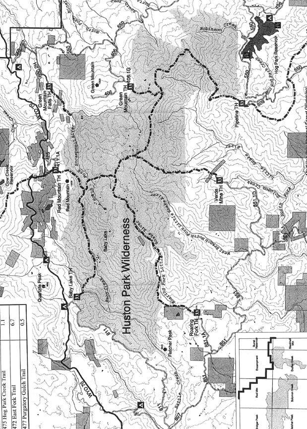 Pipeline Trailhead Hiking Map