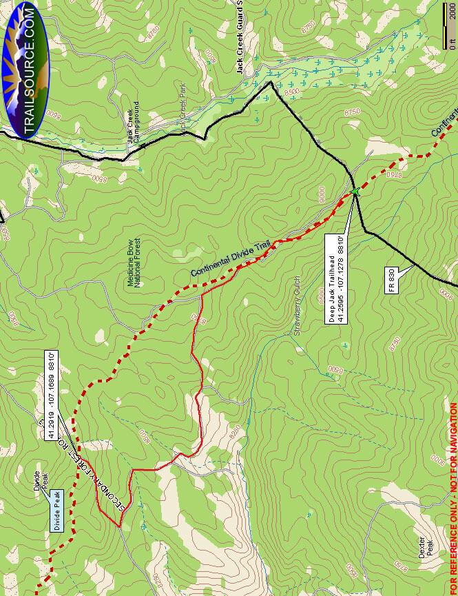 Divide Peak Trail Hiking Map