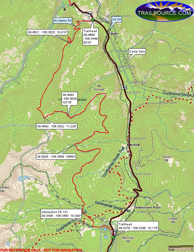 Wurts Ditch Road Dirt Biking Map