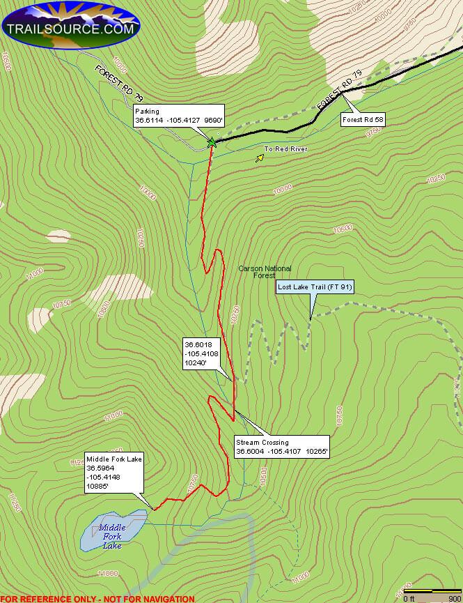 Middle Fork ATV Trails Map