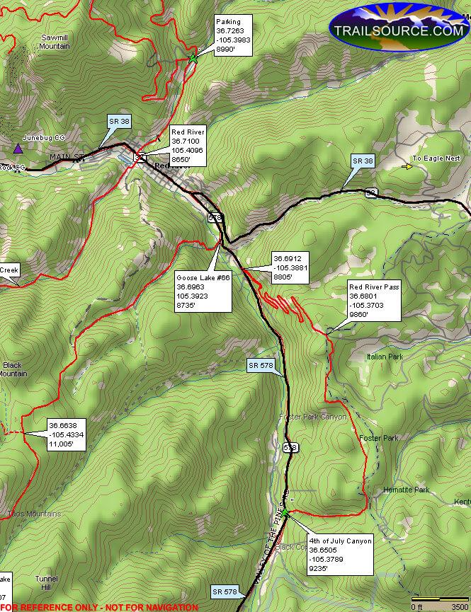 4th Of July Canyon Dirt Biking Map