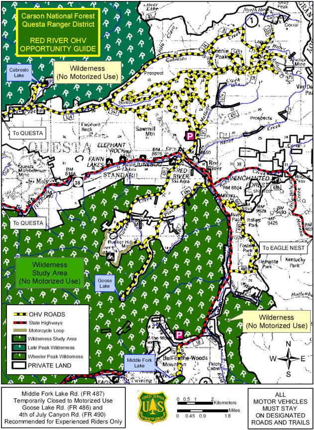 Garrapate Ridge Dirt Biking Map