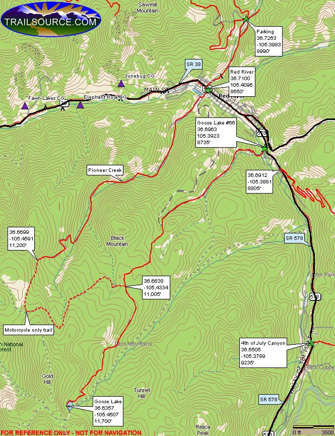Goose Lake Dirt Biking Map