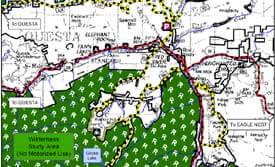 Largo Lake Dirt Biking Map