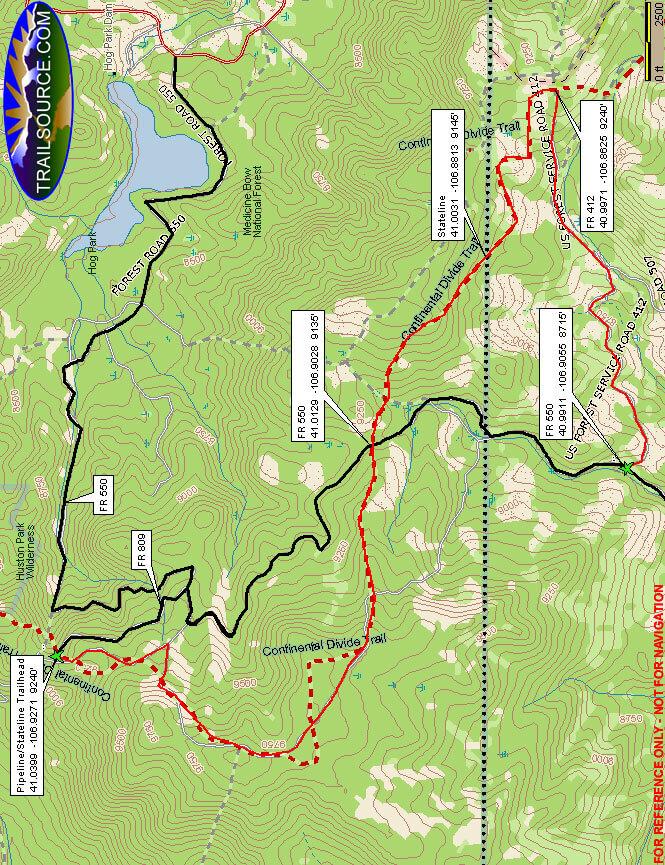 Pipeline / Stateline Trail ATV Trails Map