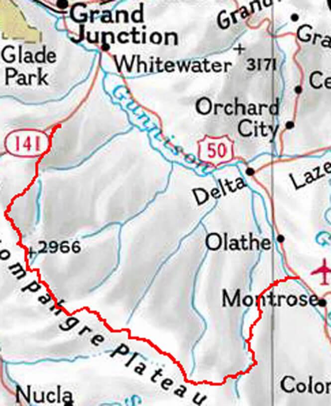 Uncompahgre Plateau Trail Dirt Biking Map