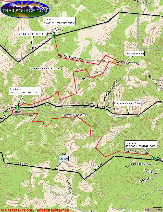 Switzerland Trail ATV Trails Map