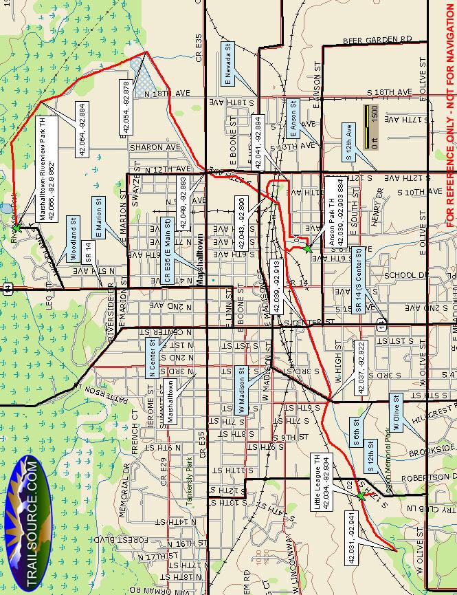Linn Creek Greenbelt Parkway Cross Country Skiing Map