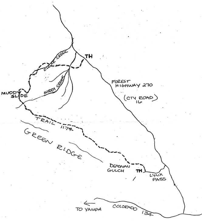 Morrison Divide / Muddy Slide Trail Horseback Riding Map