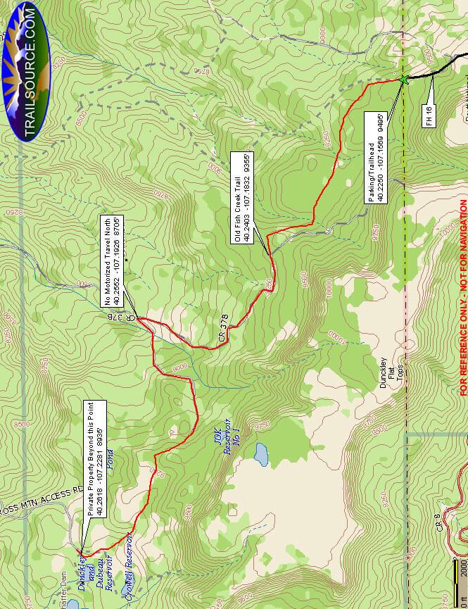 West Fish Creek Trail Hiking Map