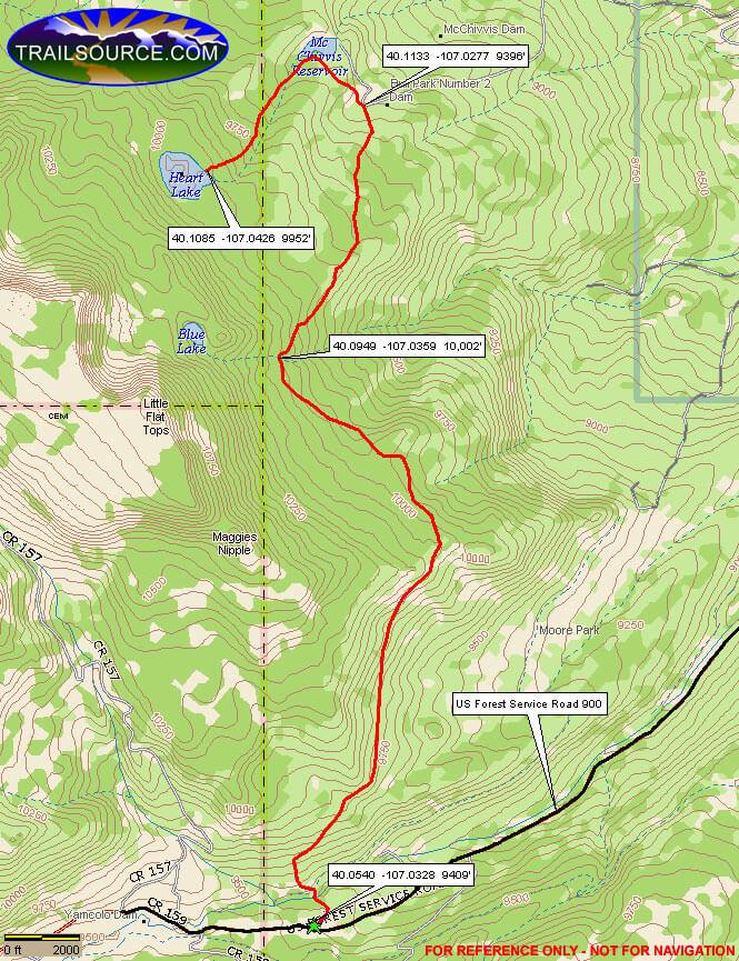 Ute Trail /  Heart Lake Horseback Riding Map
