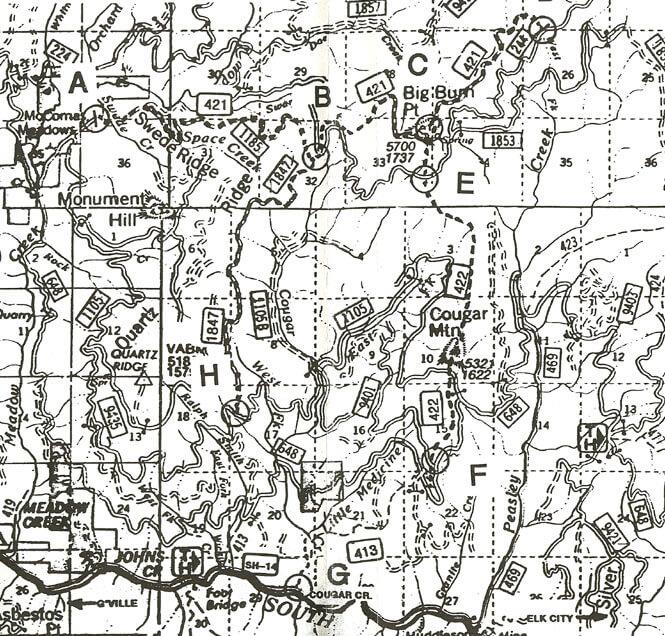 McComas ORV Trails Dirt Biking Map
