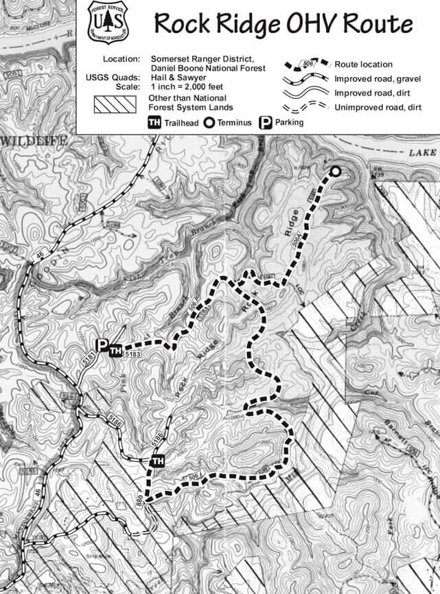 Rock Ridge OHV Route Dirt Biking Map