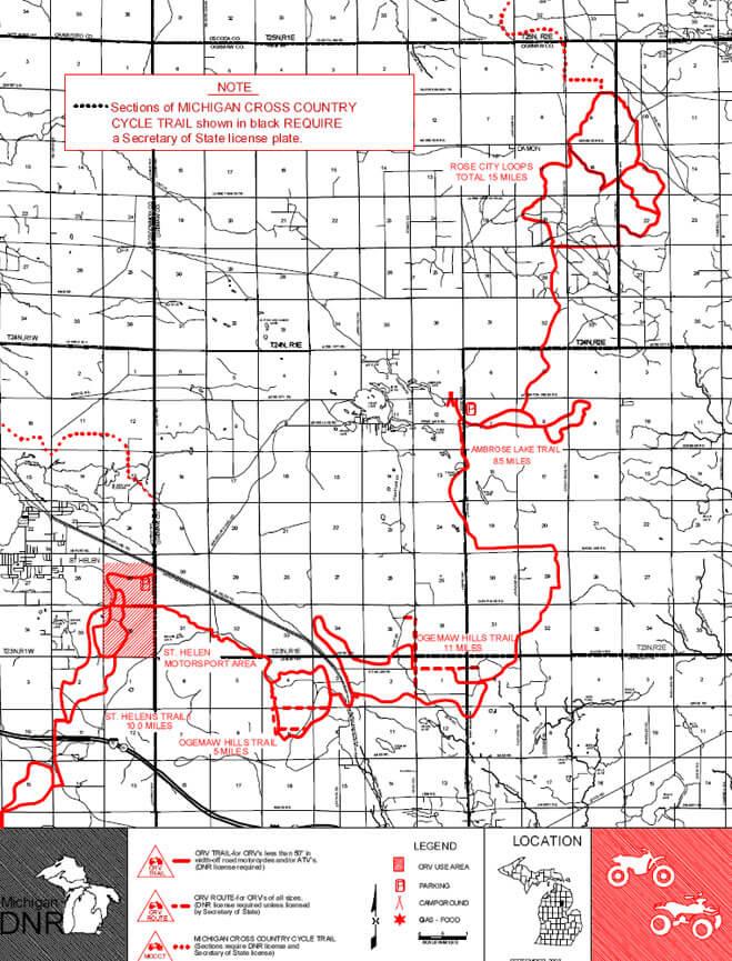 Rose City Trail ATV Trails Map
