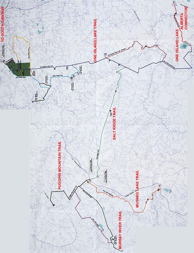 Dawson Creek Snowmobiling Map
