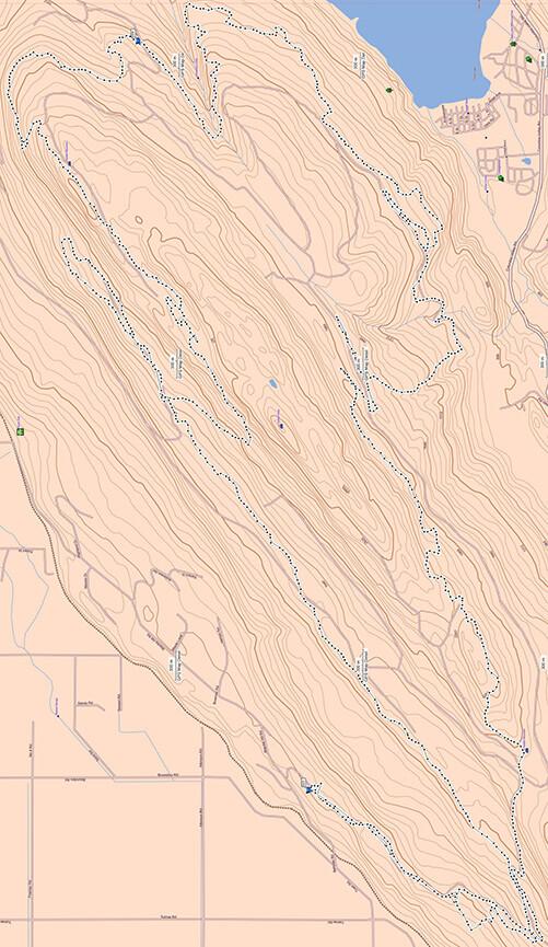 Vedder Mountain ATV Trails Map