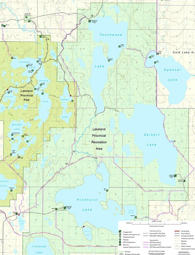 Lakeland OHV Staging Area ATV Trails Map
