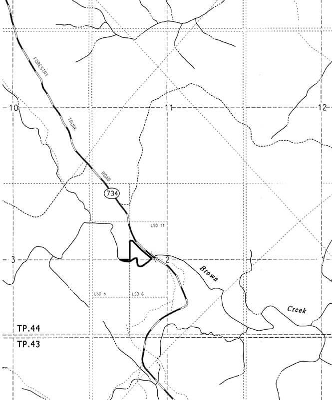 Brown Creek ORV Staging Area Dirt Biking Map
