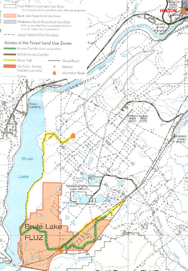 Brule Lake Sand Dunes Dirt Biking Map