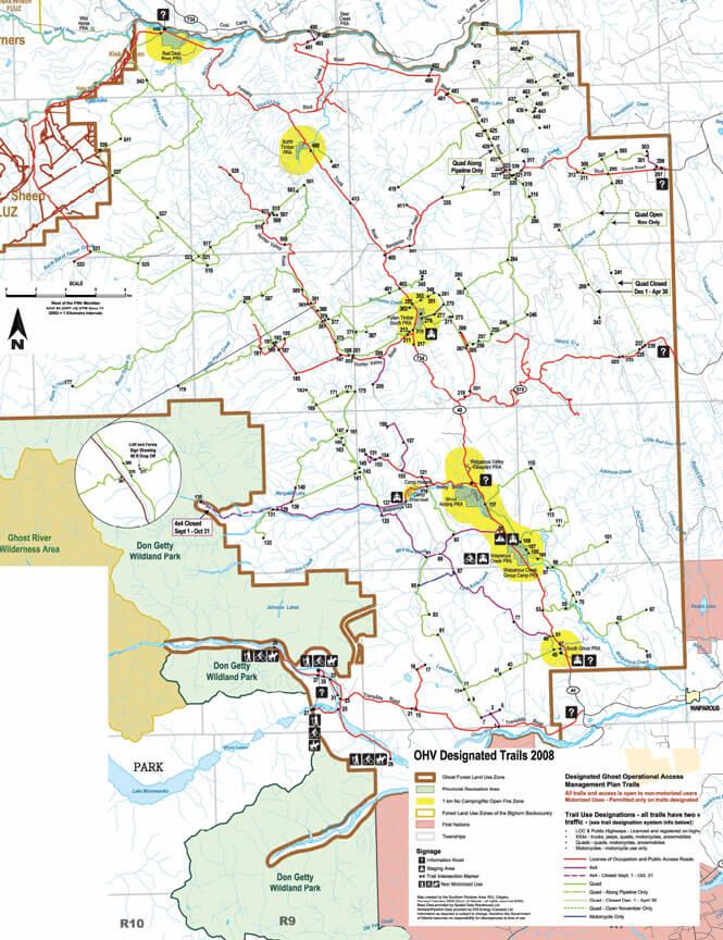 Fallen Timber ORV Staging Area Dirt Biking Map