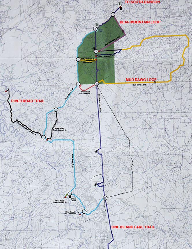 Bear Mountain Loop ATV Trails Map