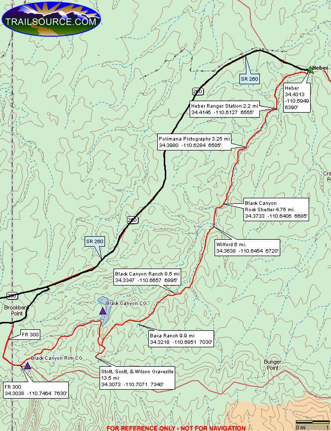 Black Canyon ORV Trail Dirt Biking Map