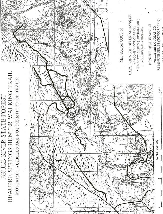 Beaupre Springs Trail Horseback Riding Map