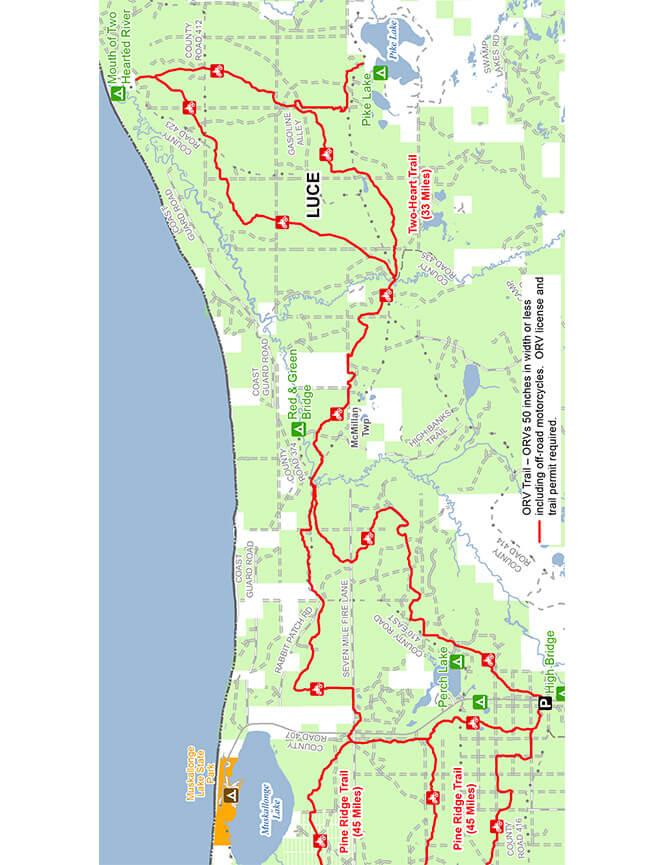 Two Heart Trail Dirt Biking Map