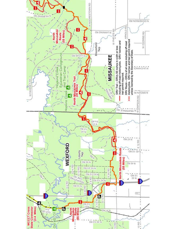 North Missaukee Trail Dirt Biking Map