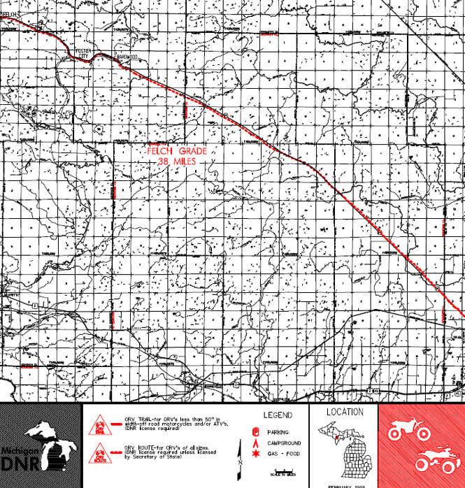 Flech Grade Route Dirt Biking Map