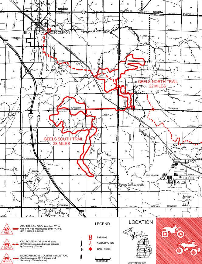 Geels Trail ATV Trails Map