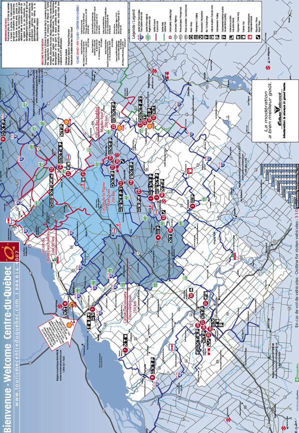 Centre-du-Quebec - Circuit de la Plaine ATV Trails Map
