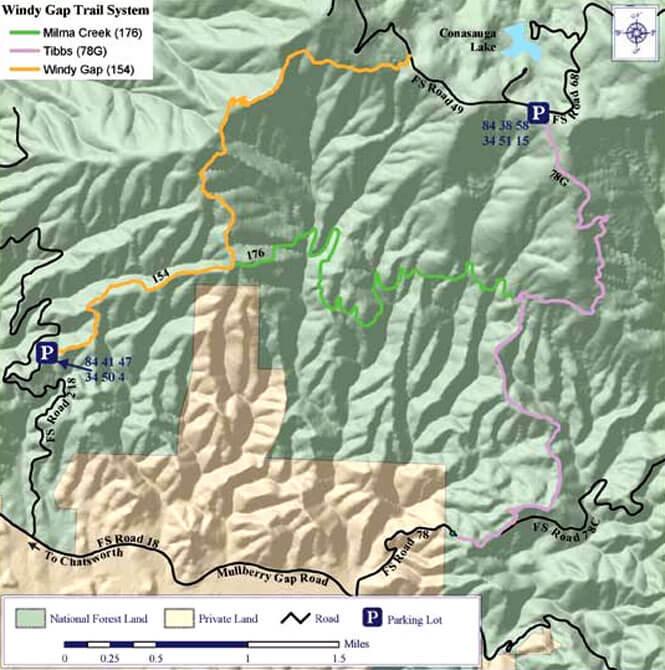 Milma Creek ORV Trail Dirt Biking Map
