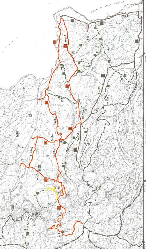 Sassetta Hiking Map